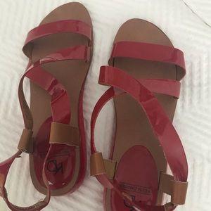 Kelsie daggler red sandals